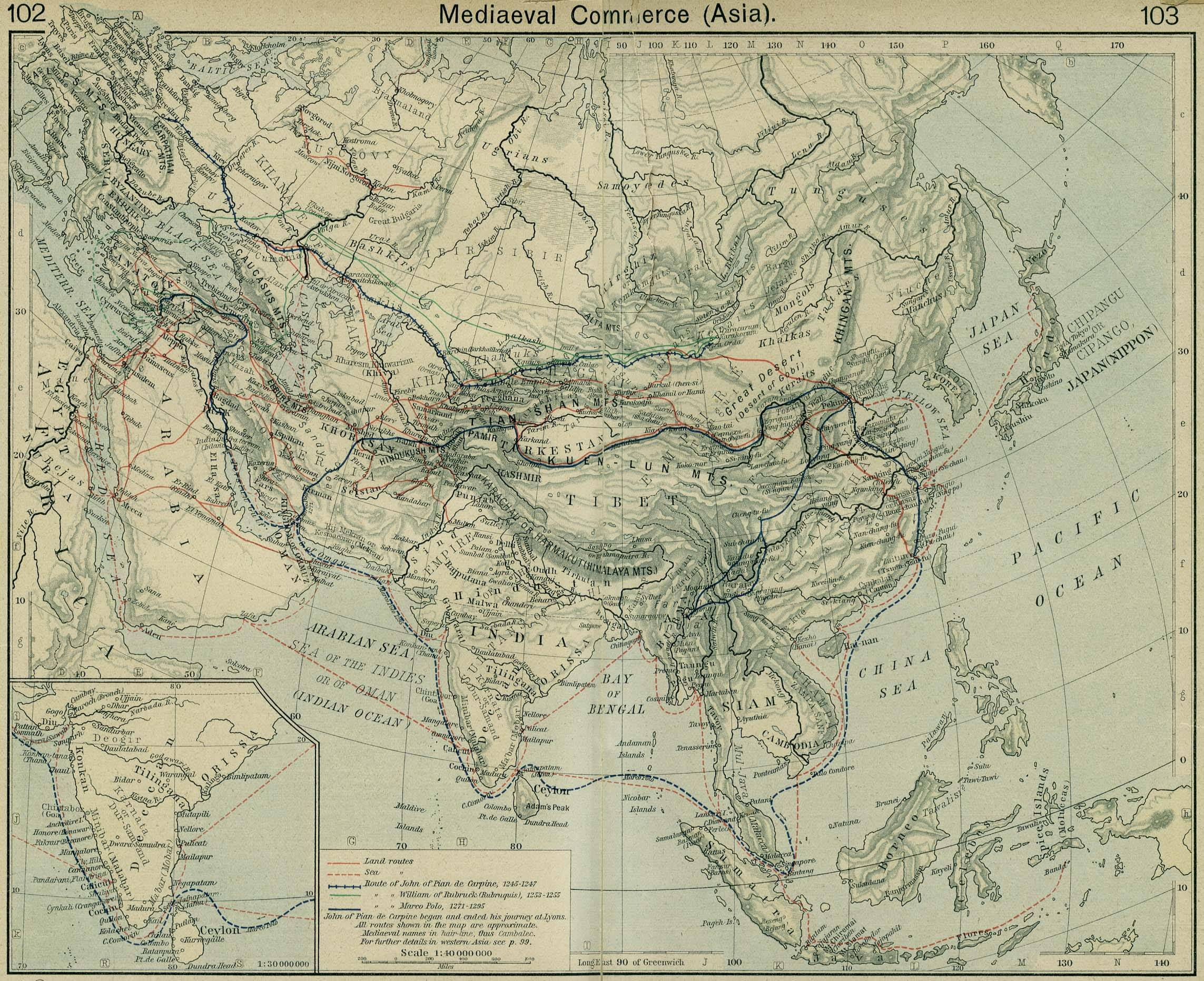 Map Of Asia 800 Ad.Maps Atlas Silk Road Trade Routes Map